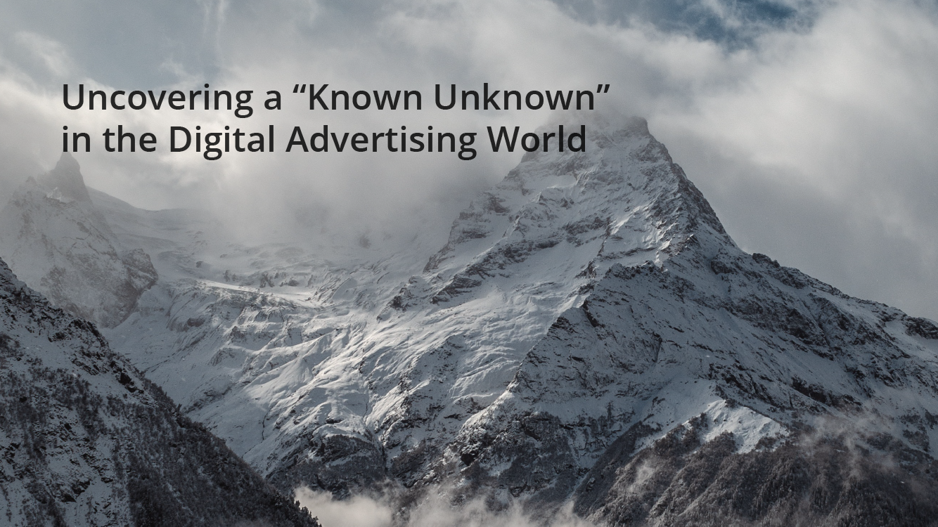 "Discovering a ""known unknown"" in digital marketing"